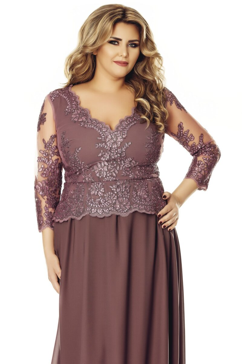 rochie plus size rose 8