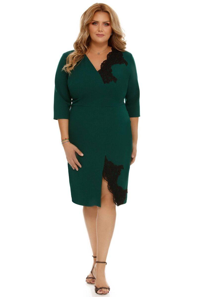 rochie plus size teresa verde 3