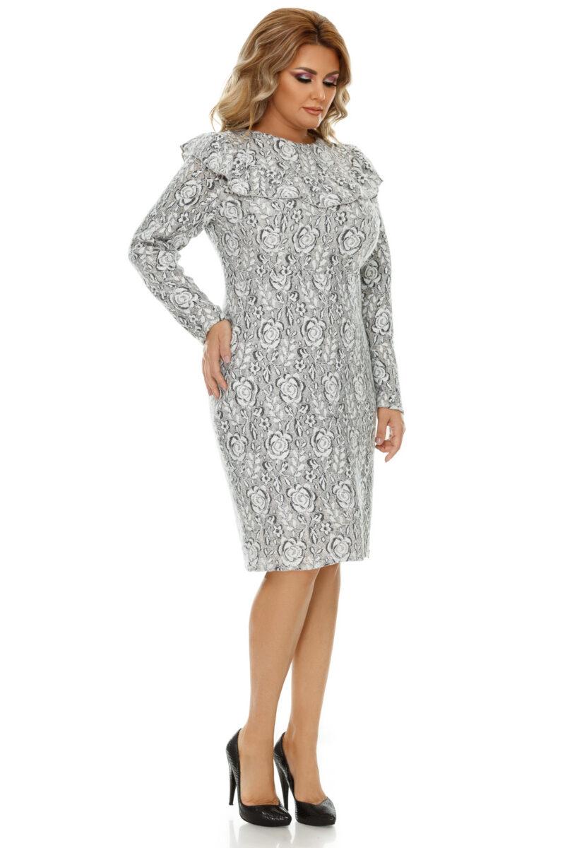 rochie plus size vera gri 6