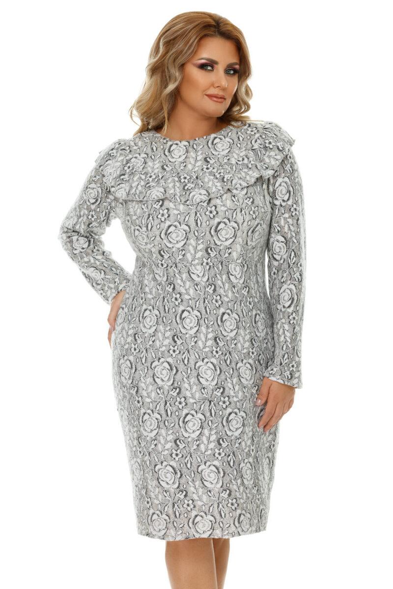 rochie plus size vera gri 7
