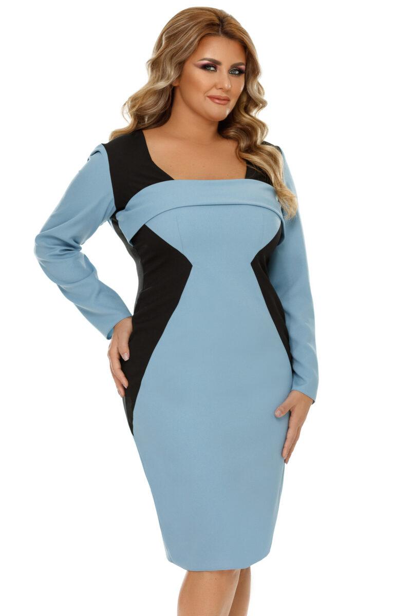 rochie plus size zora bleu 7