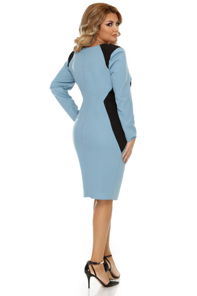 rochie plus size zora bleu 8
