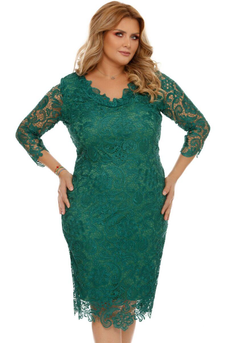 rochie verde plus size arella 6 scaled