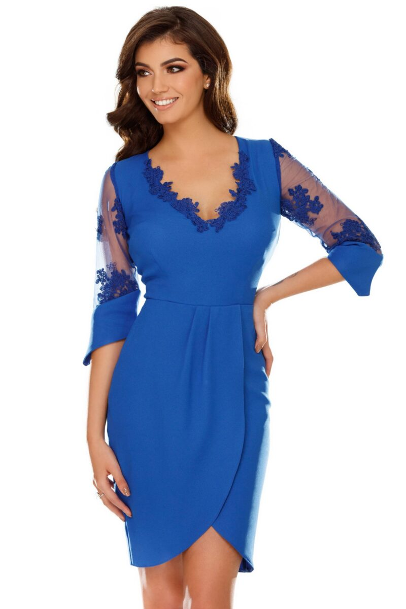 rochie yarina albastra scaled