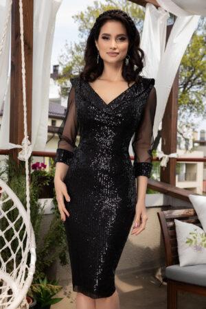 Rochie Jersey Neagra