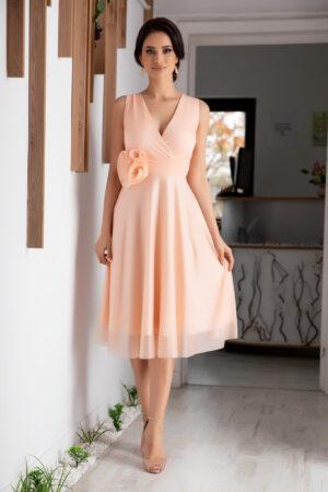 Rochie Rosalinda Peach
