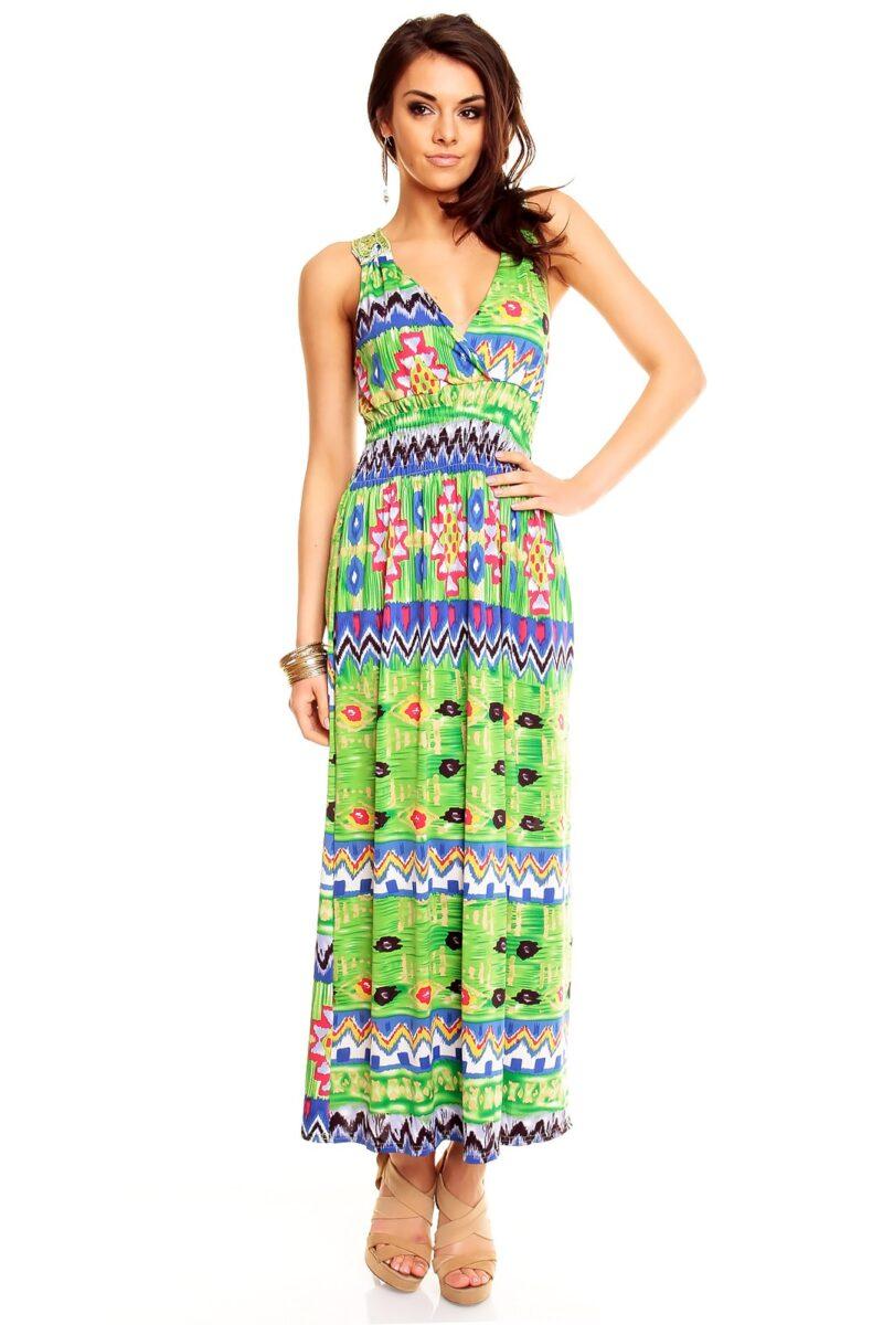 rochie lunga verde de vara