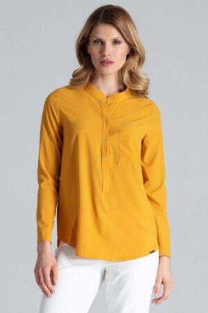 Camasa pentru femei galbena cu tunica