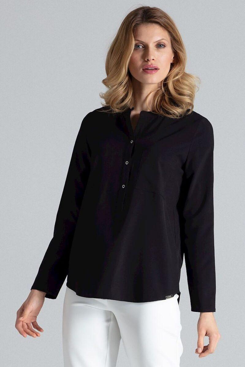 Camasa pentru femei neagra cu tunica