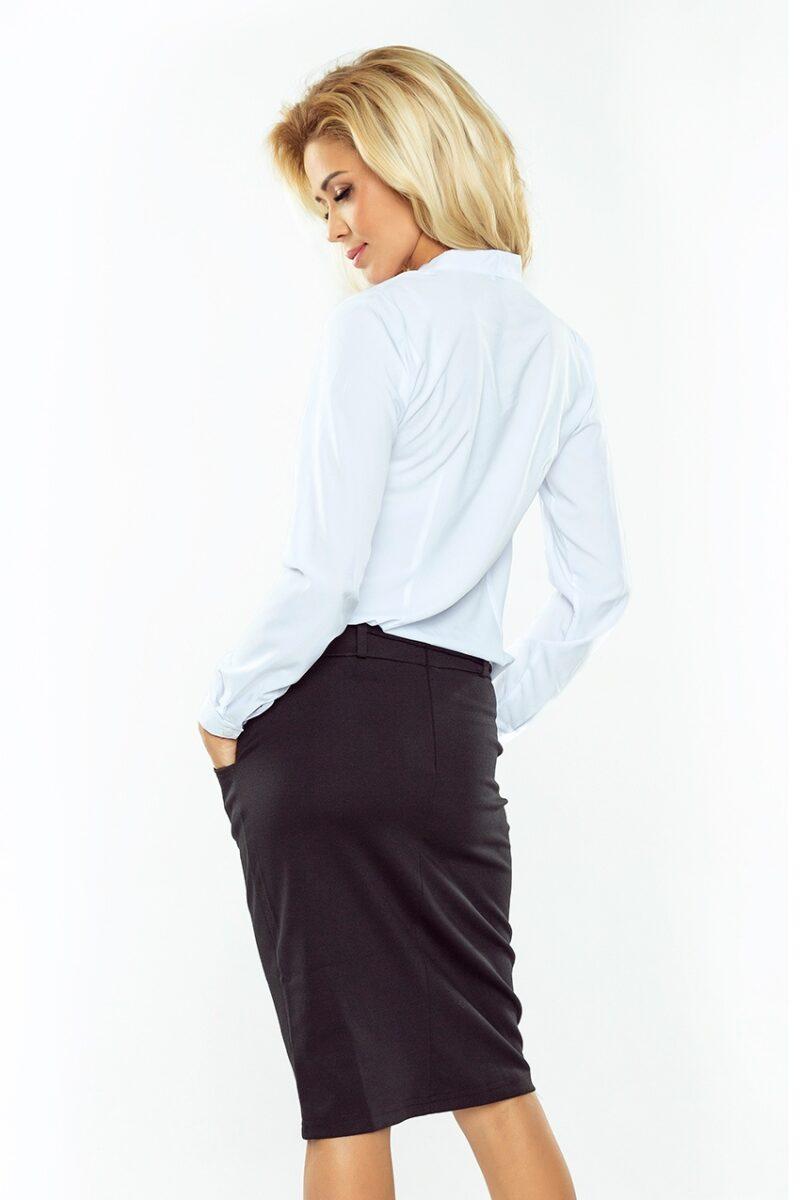 Camasa dama alba office cu fundita si maneci lungi
