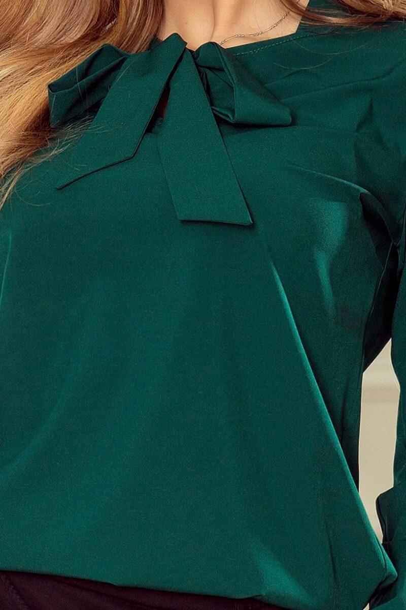 Camasa dama verde office cu fundita