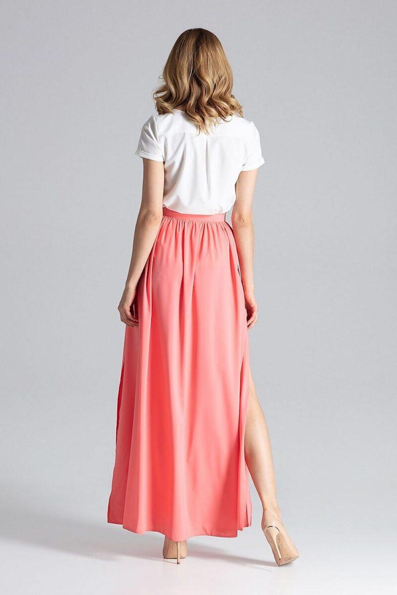 Fusta lunga roz de vara eleganta 3