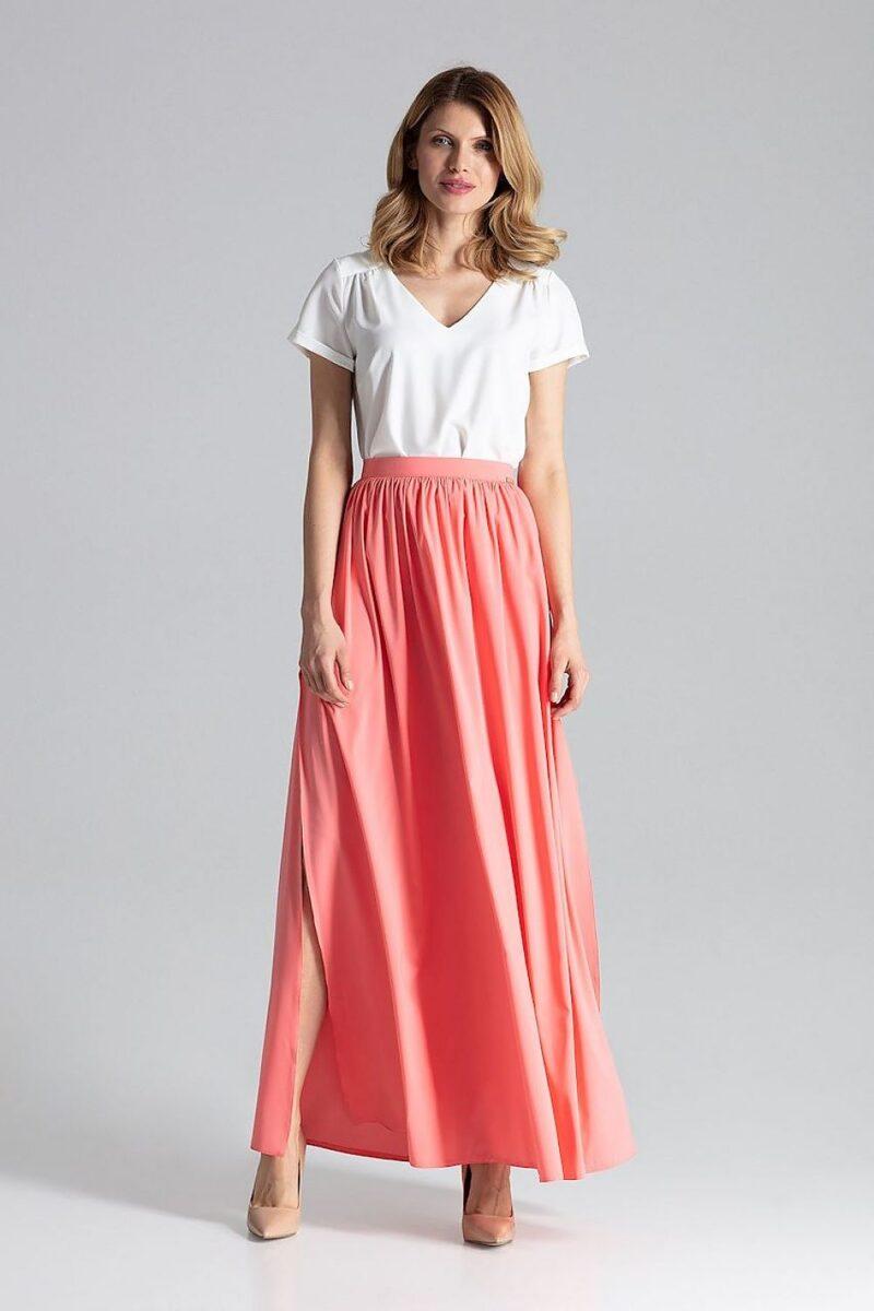 Fusta lunga roz de vara eleganta 4