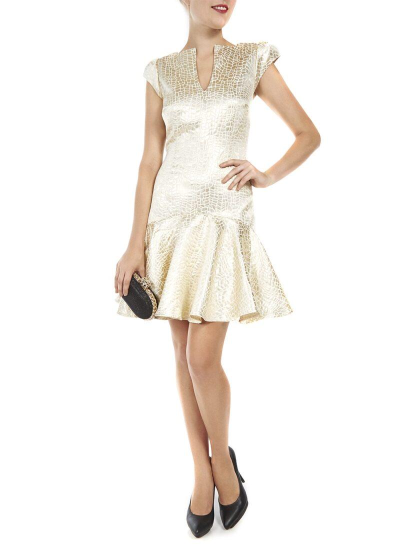 rochie aurie jucarusa