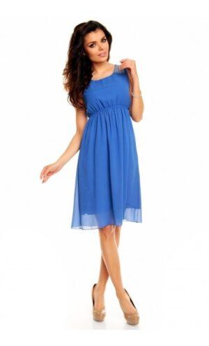 rochie din voal albastru