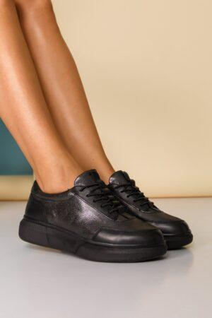Pantofi sport negri cu sireturi