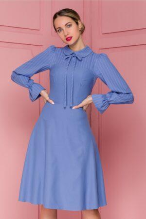 Rochie  bleu cu dungi
