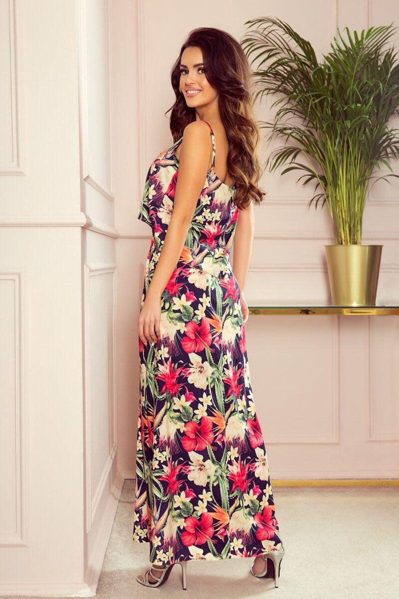 Rochie de vara lunga cu imprimeu floral