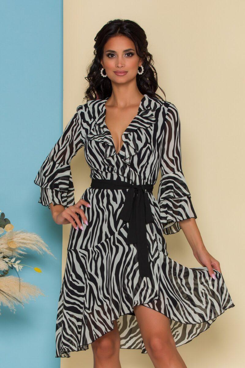 Rochie petrecuta cu imprimeu zebra